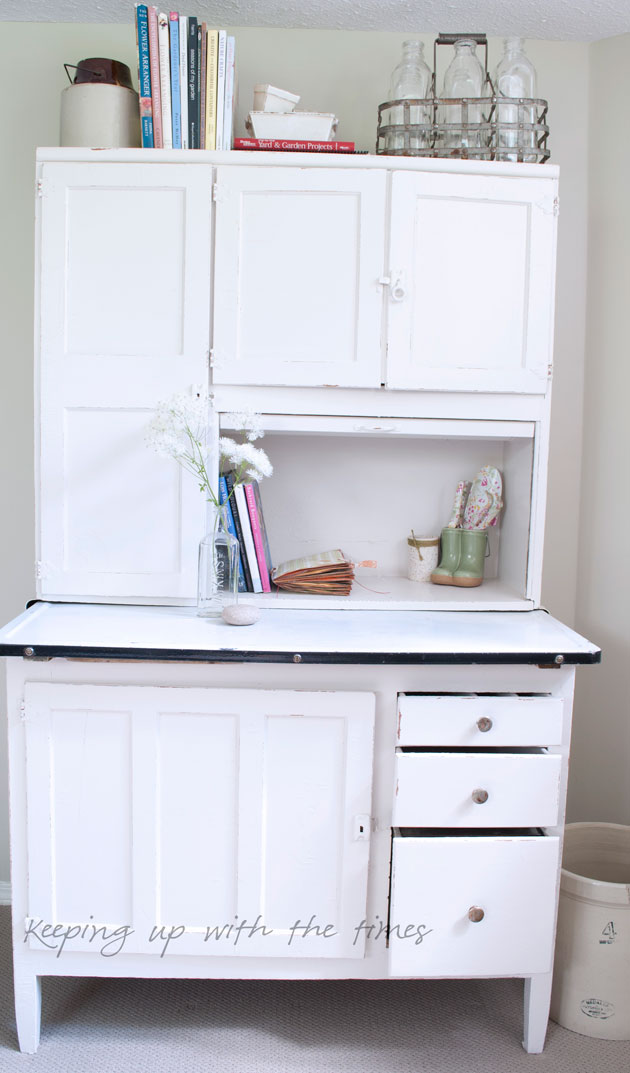 love it . & A summery new look for my Hoosier cabinet - Keeping With The Times