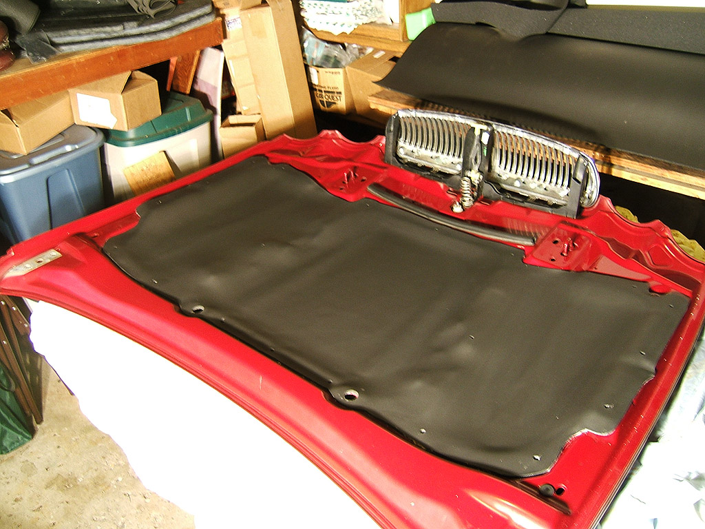 Hood Liner Material : Under car aircraft firewall hood insulation autos post
