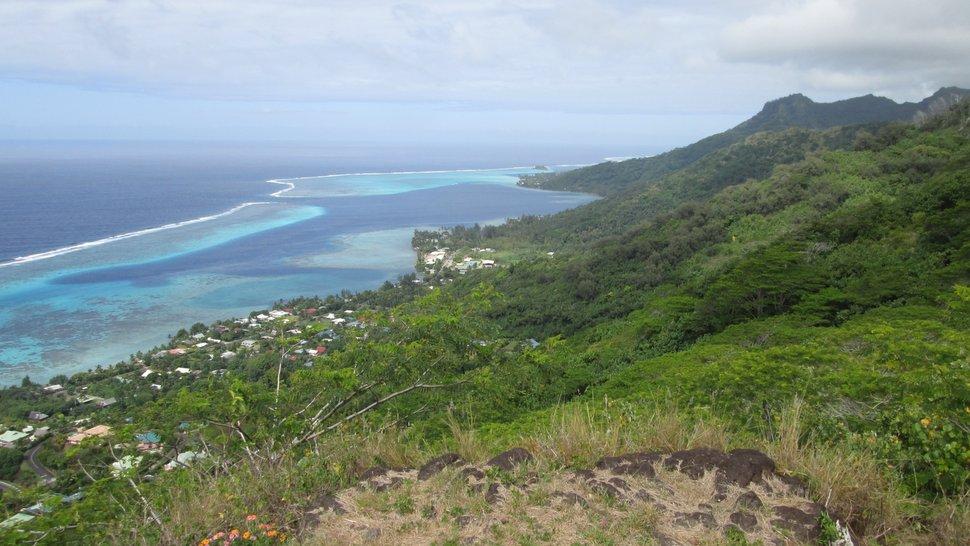 Panorama sur la côte Est de Moorea - Polynésie