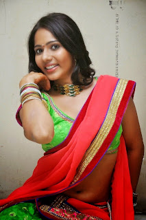 Actress Mithra half saree Pictures 009.jpg