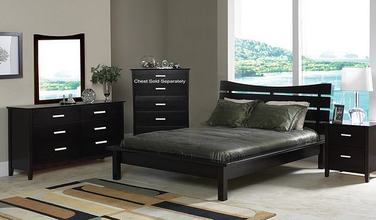 Bedroom With Black Furniture