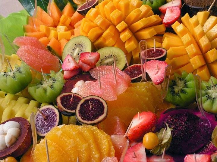 Plateau dégustation de fruits découpés