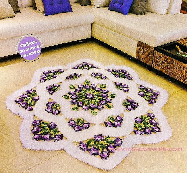 tapetes em croche barroco decore e soft da circulo com graficos em croche com receita