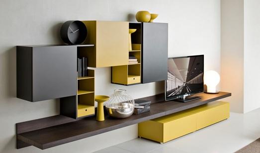 Pin sala moderna on pinterest for Estantes modernos