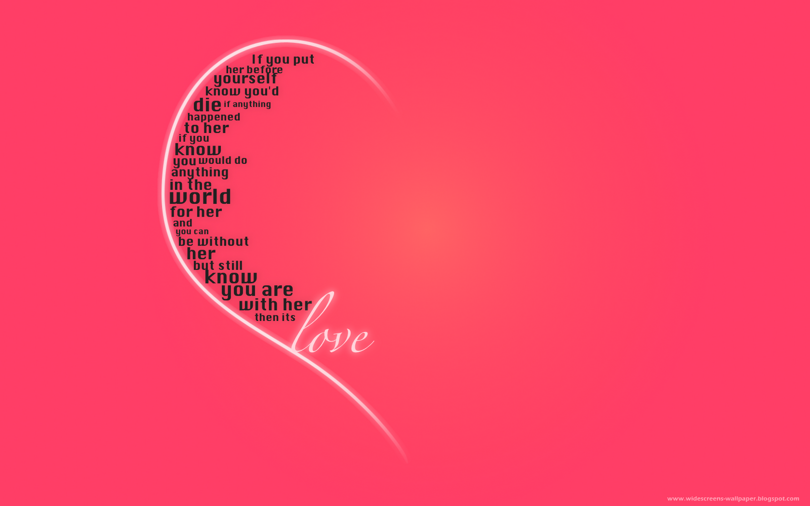 True Love Desktop Wallpaper : Wallpaper collection For Your computer and Mobile Phones: New Romantic Love Words And Quotations ...