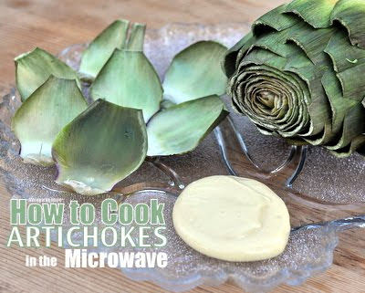 How to Cook Artichokes in the Microwave, it's dead easy, dead delicious.