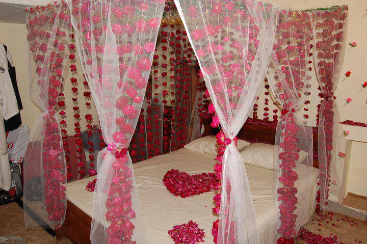 Wedding bed room decoration wedding snaps - Wedding Snaps