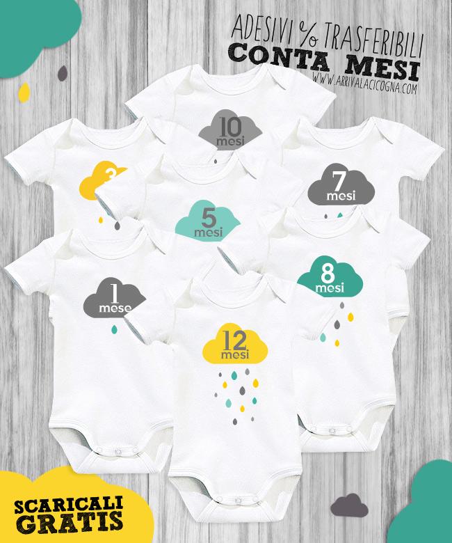 adesivi trasferibili conta mesi per neonati