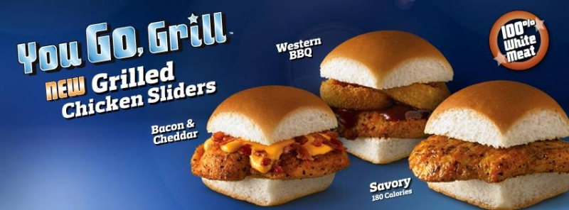 chicken options with new grilled chicken sliders featuring grilled ...