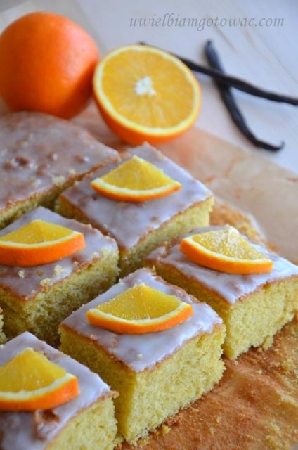 Ciasto pomarańczowe z wanilią