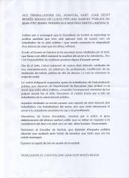 Sanitat: Manifest Tancada Broggi