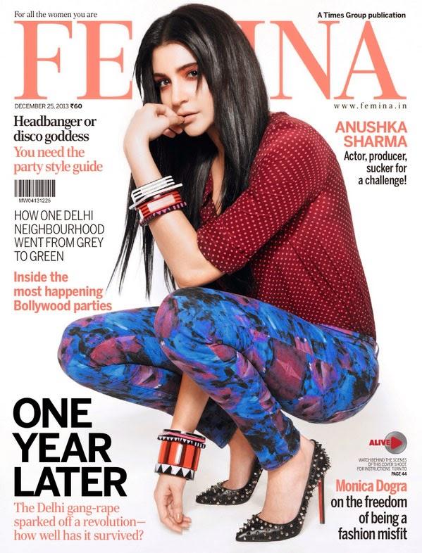 Anushka Sharma Femina Magazine 2013 Cover Page