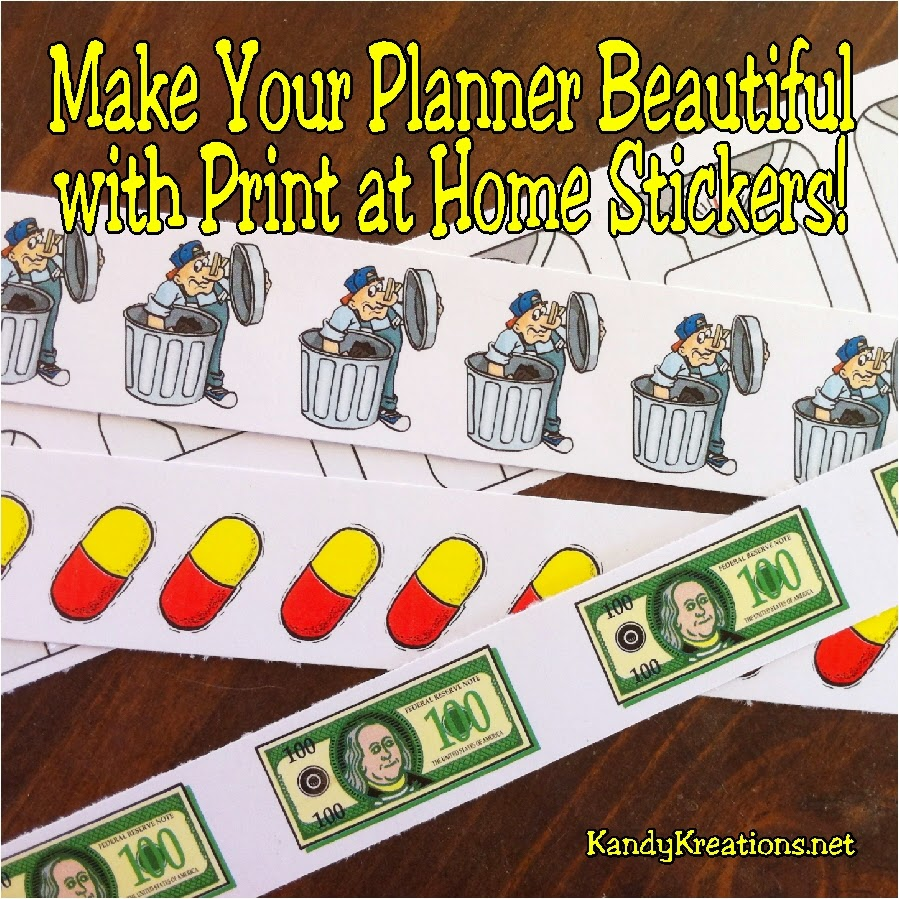 Make your planner beautiful and useful with personal stickers you can print at home.  Printing stickers at home is cheap, easy, and perfect to help you keep track of all the little to dos! Get your own free printable print at home stickers now.