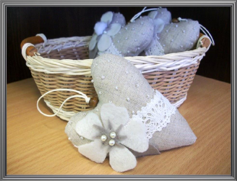 сердечко текстильное, валентинка