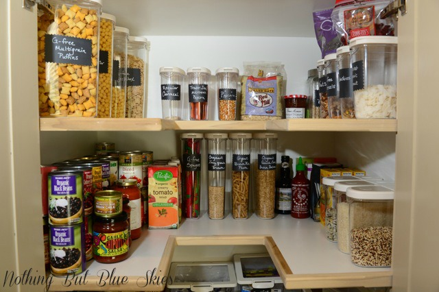 nothing but blue skies how to organize your pantry in