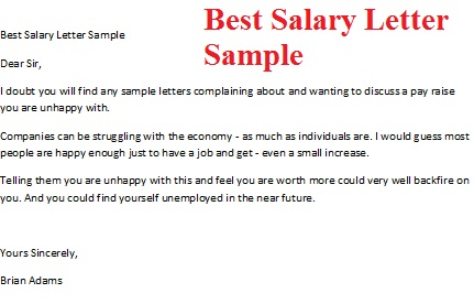 Salary Letter  Pay Raise Letter Template