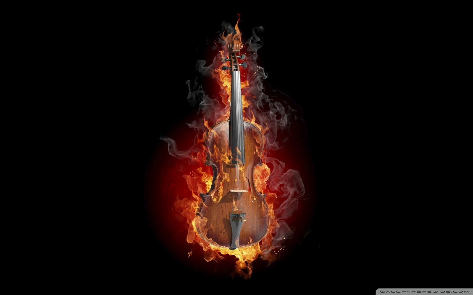 Burning Violin Wallpaper Music Wallpapers