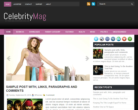 CelebrityMag Blogger Theme