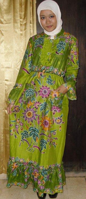 Gamis Pesta - Abaya Muslim: Abaya Elora (Batik Modern Muslimah)