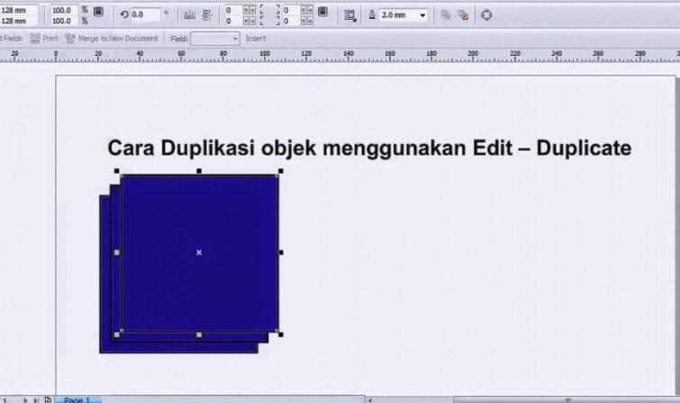 Cara Duplikasi Objek menggunakan Edit - Duplicate