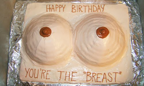 funny boobs cake