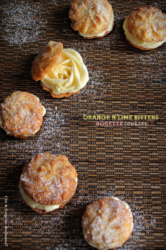 Orange & Lime Bitters Rosette Cookie