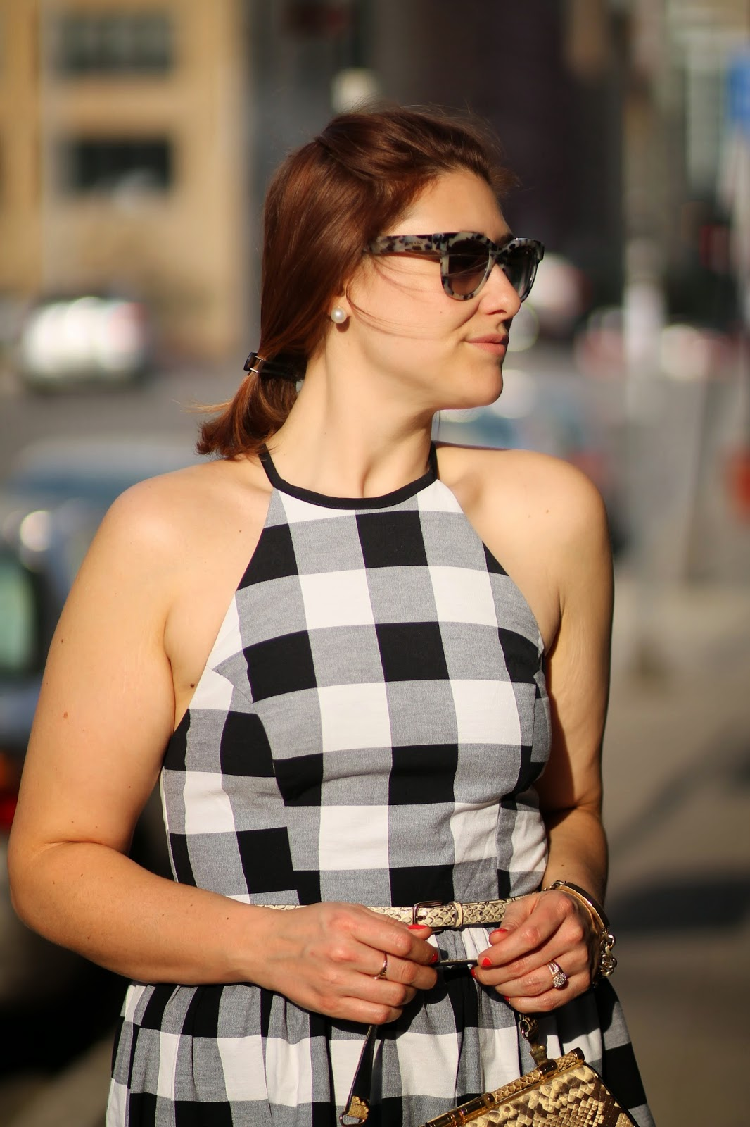 gingham, dress, asos, ann, taylor, black