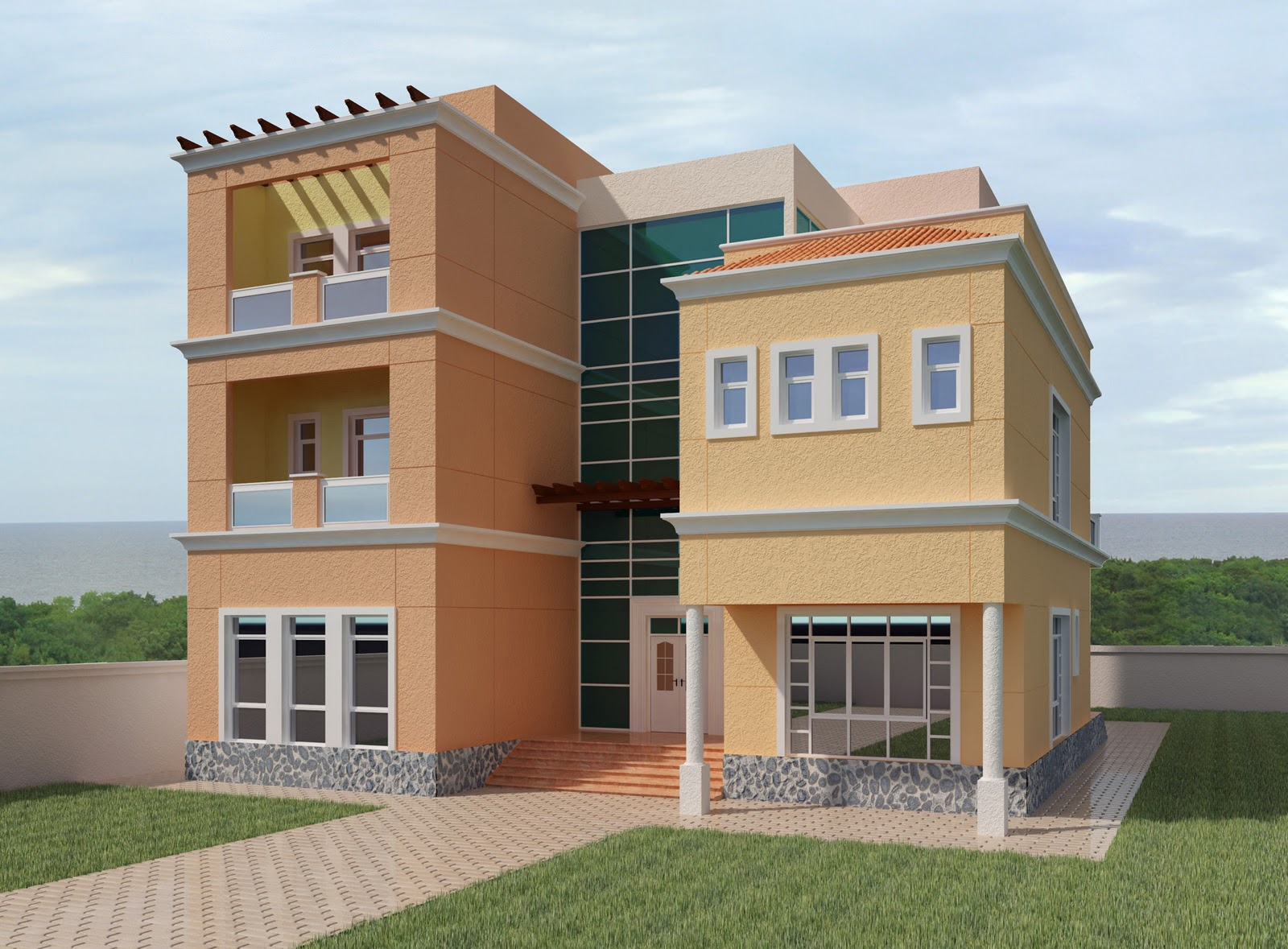 Front Elevation Acp : Acp elevation design joy studio gallery best