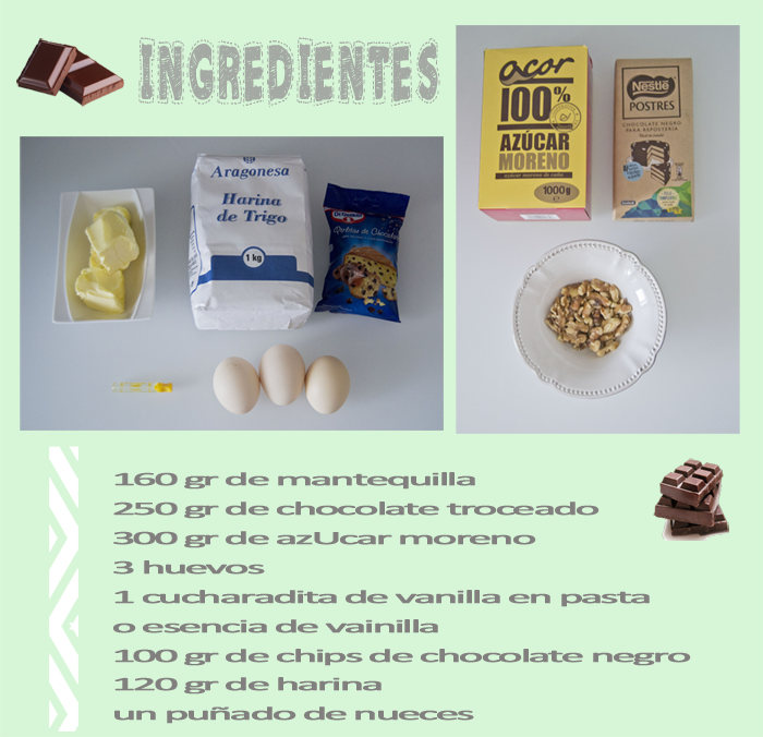 Como hacer brownie chocolate nueces