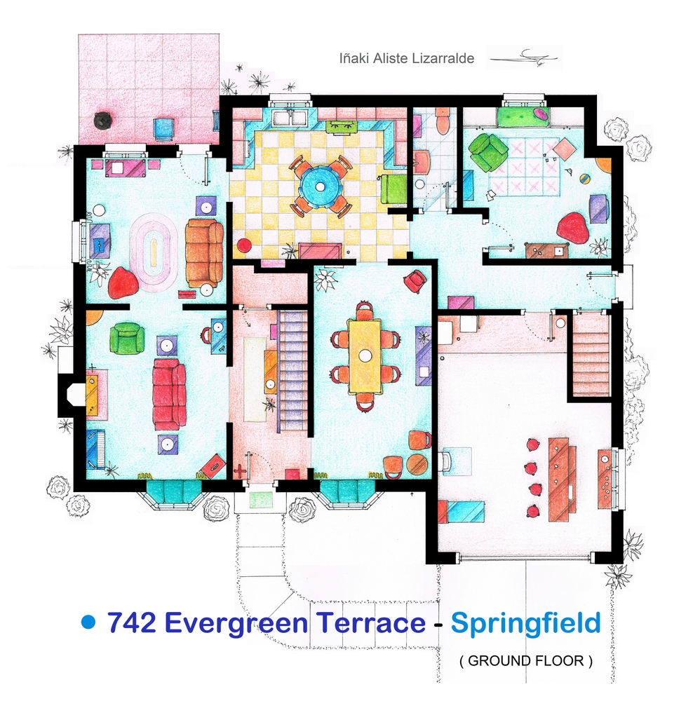 Claraboia as casas dos seriados de tv americanos for 742 evergreen terrace springfield