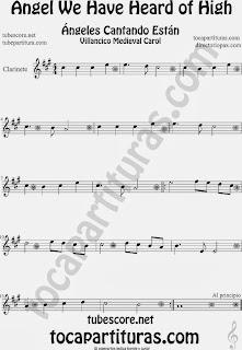 Partitura de para Clarinete Canción de Navidad Carol Song for Christmas Sheet Music for Clarinet Music Scores