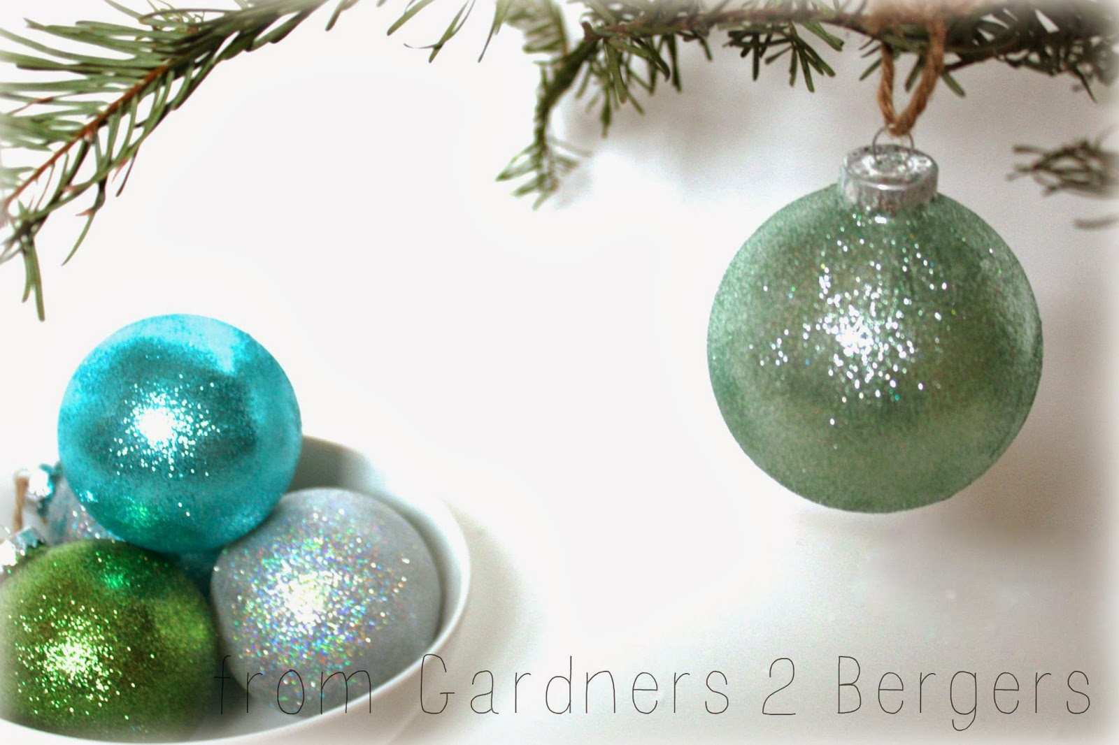 Homemade Glitter Covered Ornaments | handmade ornament no. 21 ...