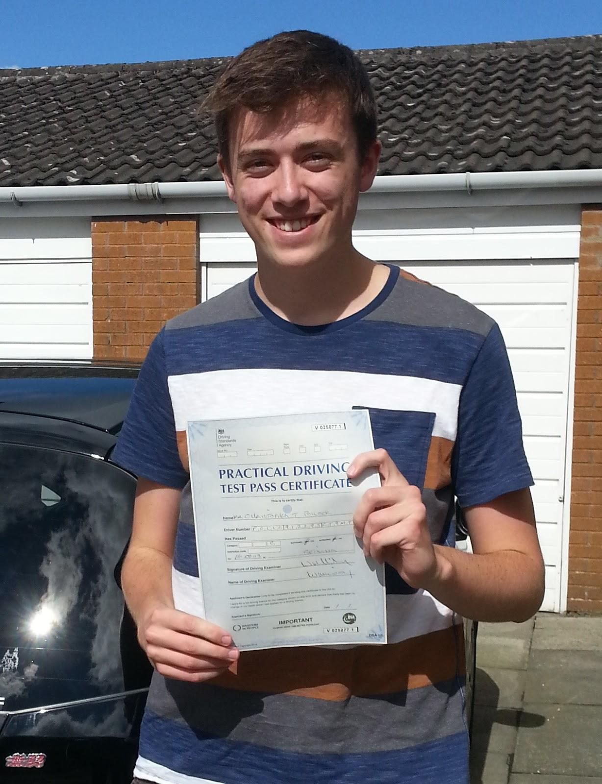 Chris Pollock driving test pass