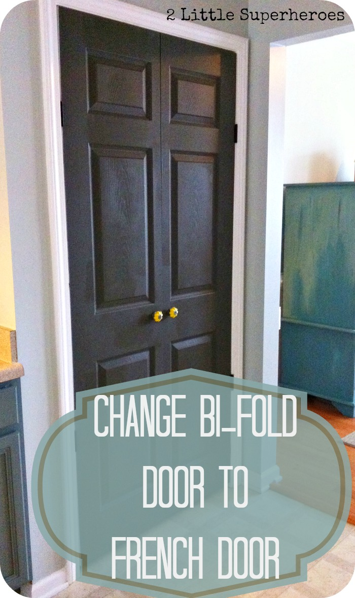 how to make bi fold doors into french doors