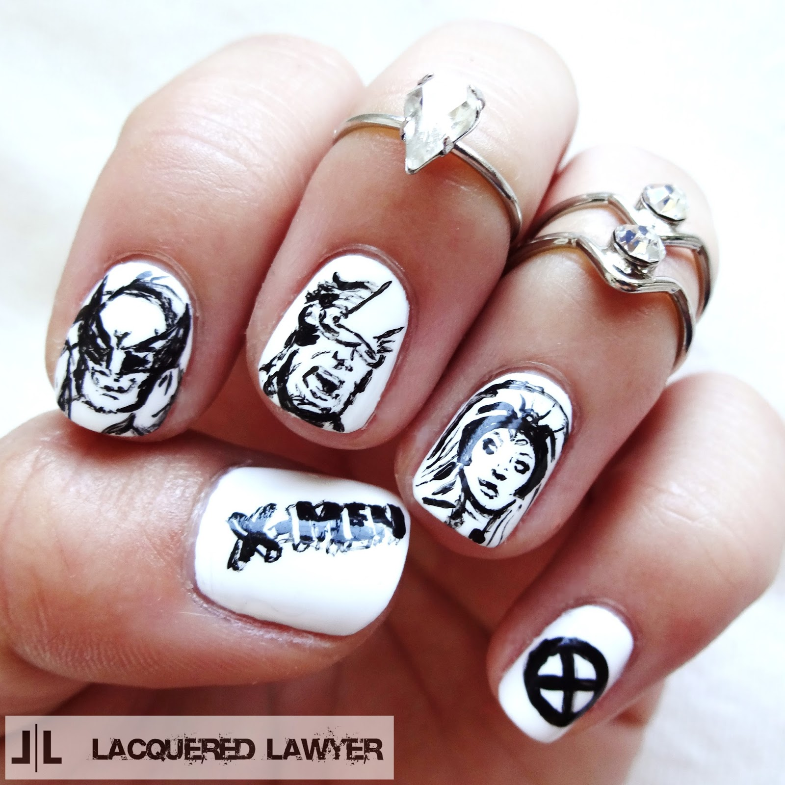 Lacquered Lawyer Nail Art Blog X Men