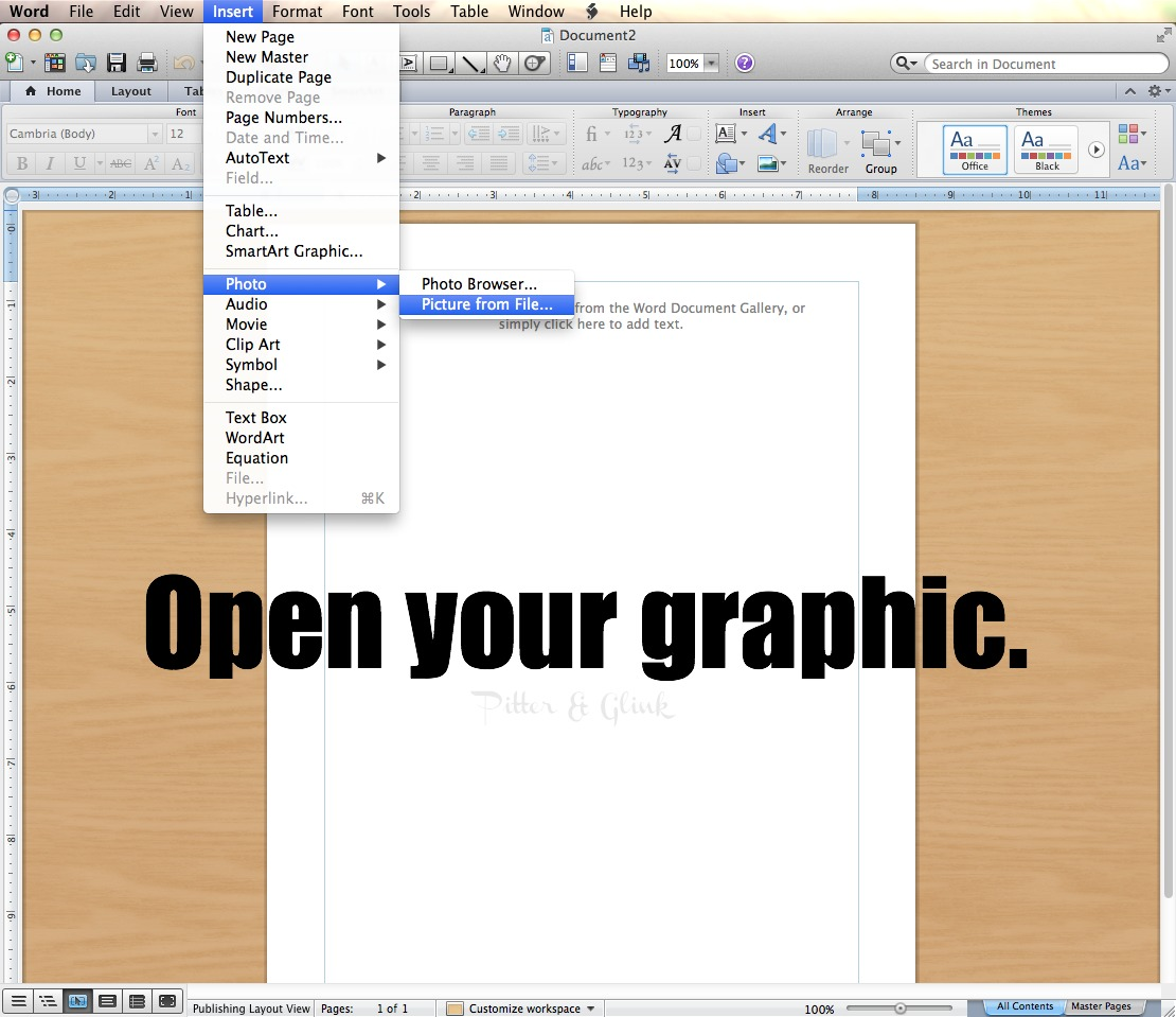 How To Print Large Graphics Images Using Microsoft Word Pitterandglink