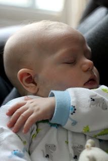 Sleeping infant after nursing