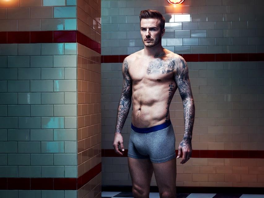 David Beckham posa de cueca para a campanha de sua linha de roupas íntimas. Foto: Josh Olins / Divulgação