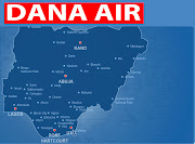 Dana Air route map. DANA AIR LOGO. IATA code : 9J ICAO code : DAN (dana air routes map)