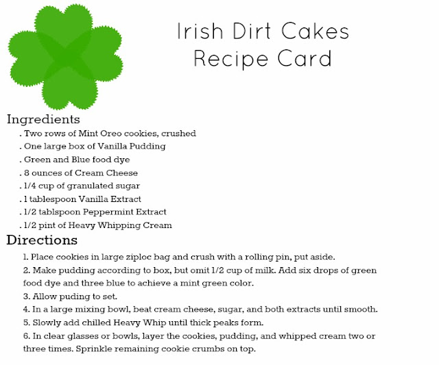 Irish Dirt Cakes