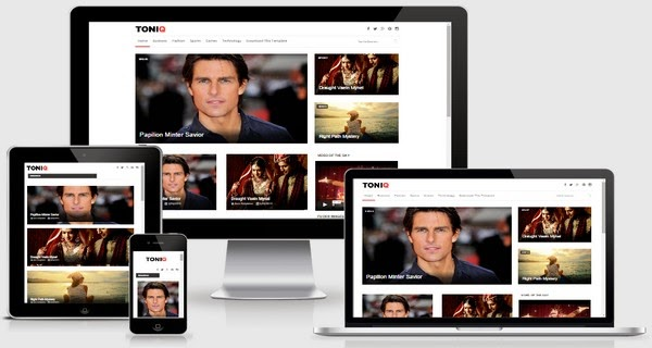 download Toniq Responsive Blogger Template Free Download