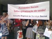 CRES na luta com Assistentes Sociais da saúde.