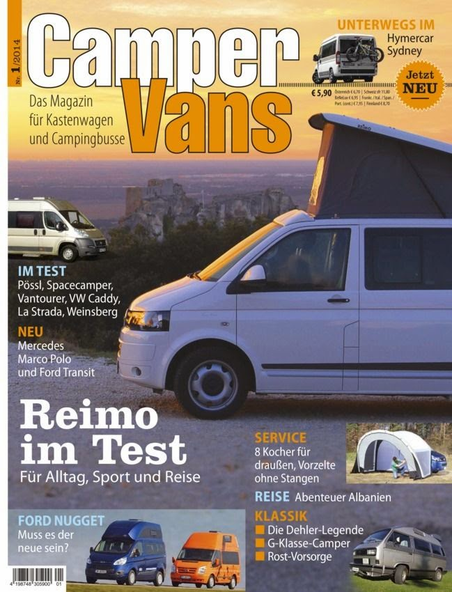 campervans deutsch magazine 01 2014 idioma alem n. Black Bedroom Furniture Sets. Home Design Ideas