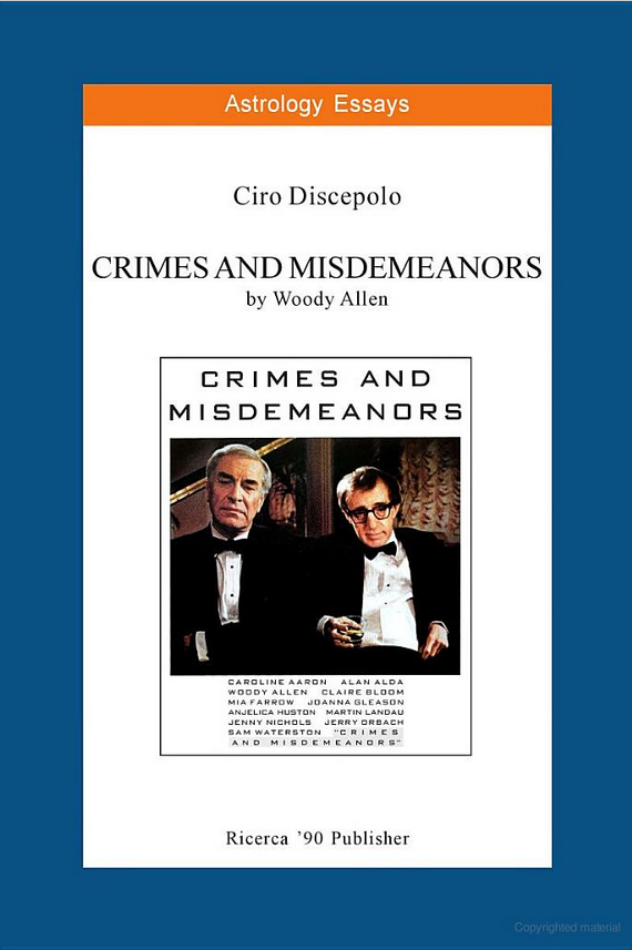 essays crimes misdemeanors Teaching ethics with crimes & misdemeanors: the ring of gyges posted by: s goldberg designed for: topics covered: estimated time necessary: 3 - 5hrs, can span across multiple class meetings print friendly, pdf & email [addtoany].