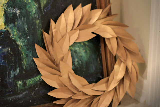Paper Bag Wreath Tutorial