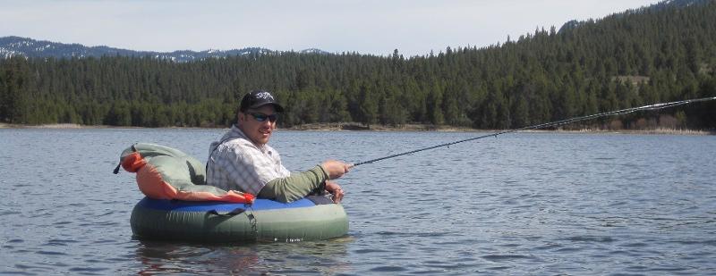 Fly fish idaho rainbow brooke brown trout float tube for Idaho fly fishing