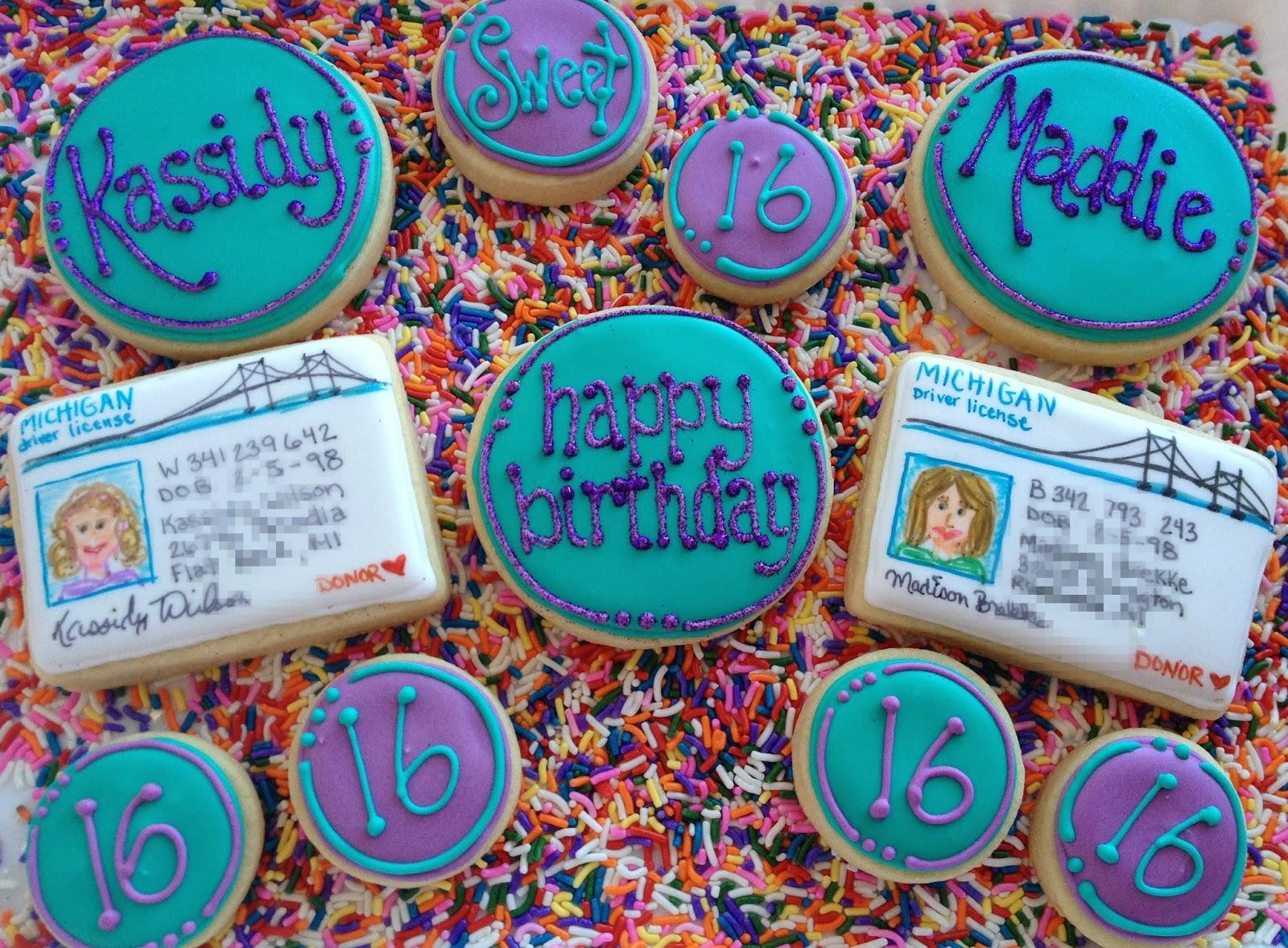 occasional cookies sixteenth birthday