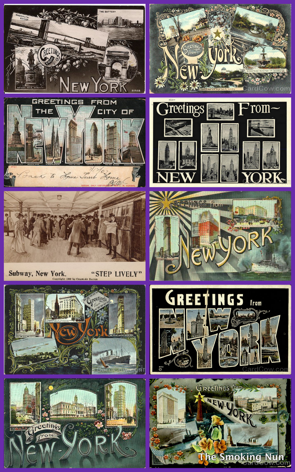 Nyc vintage nyc vintage image of the day greetings from new york above from the 1900s through 1920s kristyandbryce Images