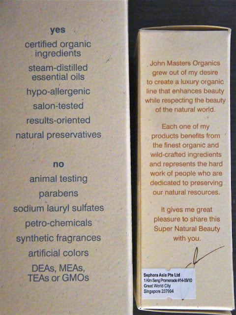 John Masters skincare