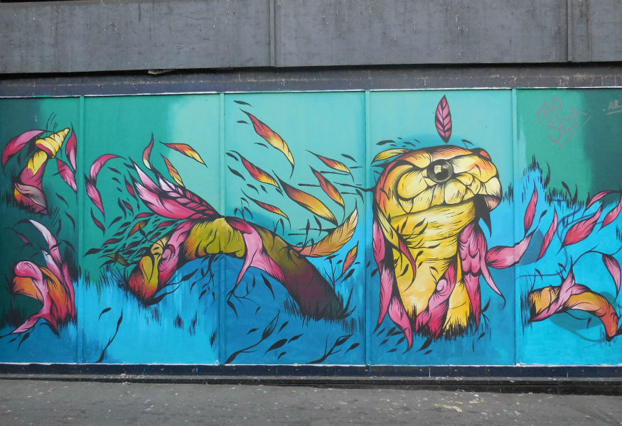 Femme Fierce graffiti street art croydon